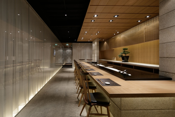 Retail design blog tsukiji aozora sandaime grill sushi for Interiors design blog