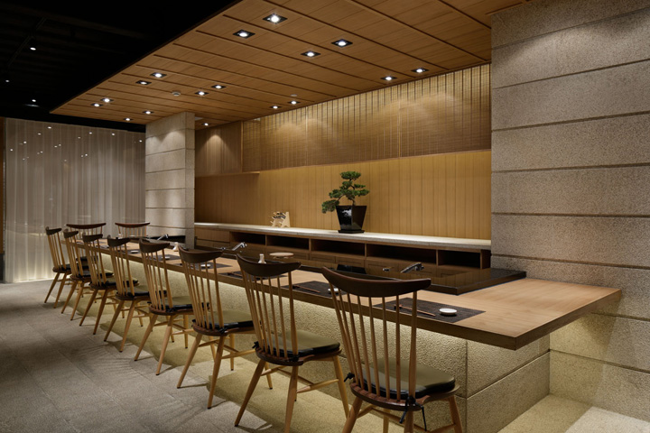 Grill sushi bar by gate interior design office shanghai for Modern house grill design