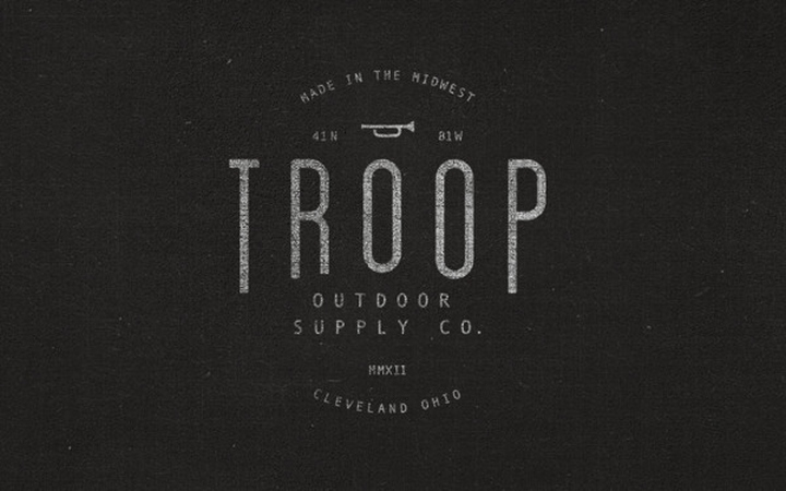 finest selection 23923 60f2d » Troop Outdoor Supply Company branding by Justin Crutchley