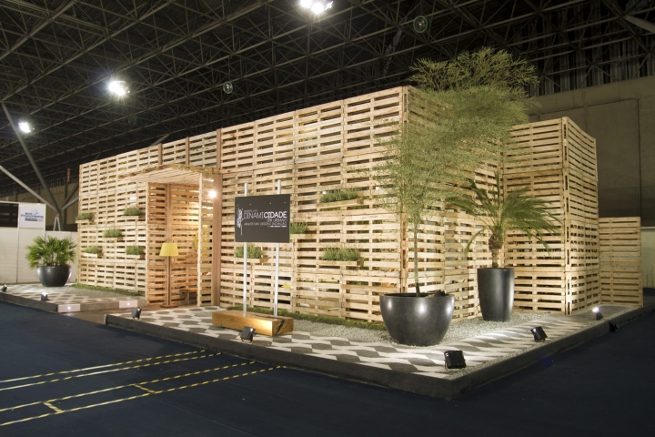 Exhibition Stand Eco : Urban spa stand by wenew innovation são paulo brazil