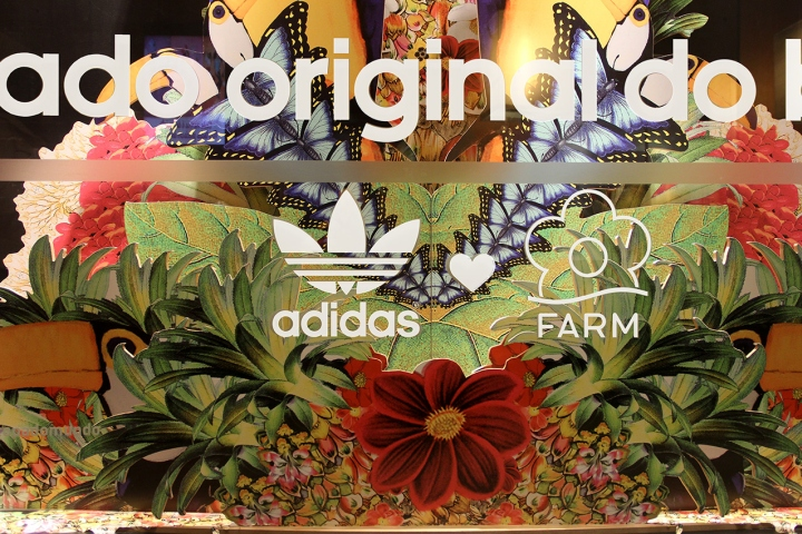 adidas Original's & The Farm Company Collection visual merchandising by AGE Isobar, Brazil