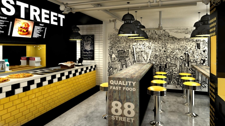 88TH STREET Fast Food Bar By Forbis Group Cracow Poland