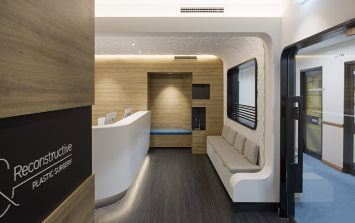 Clinic design a r plastic surgery by base architecture for Clinic interior designs
