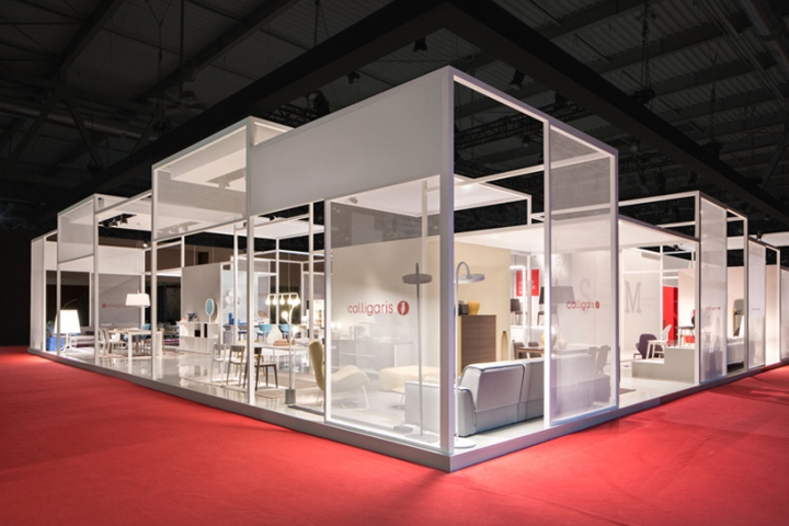 Calligaris stand at salone del mobile 2014 by nascent for Salone del mobile stand