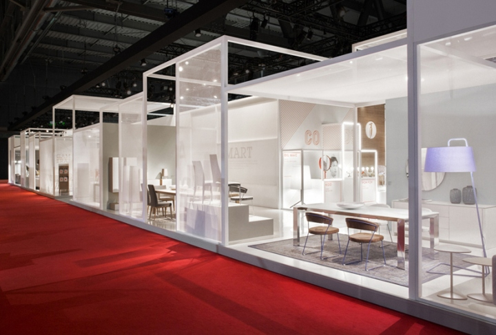 Modern Exhibition Stand Design : Calligaris stand at salone del mobile by nascent