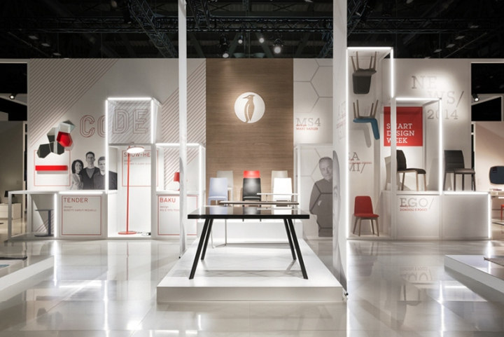 Exhibition Stand Design Italy : Calligaris stand at salone del mobile by nascent