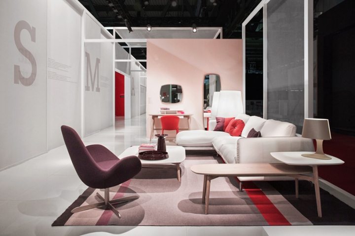 Calligaris stand at salone del mobile 2014 by nascent design milan retail design blog - Calligaris balances ...