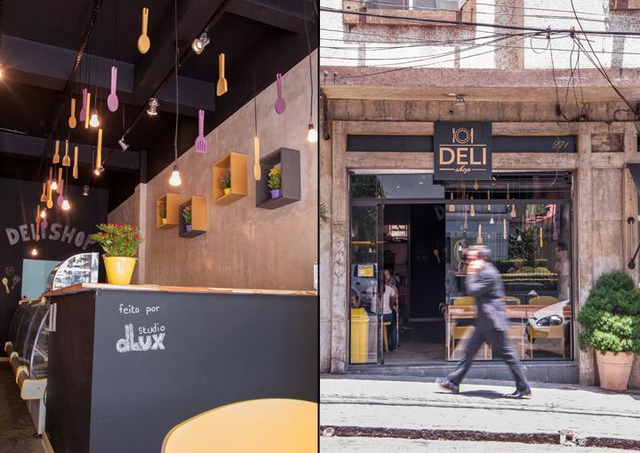 Deli shop restaurant by studio dlux são paulo brazil