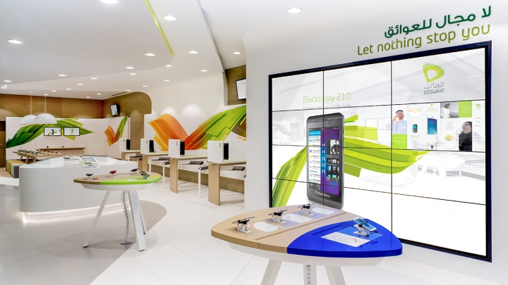 Etisalat store by startjg dubai al ain uae retail for Architectural services near me
