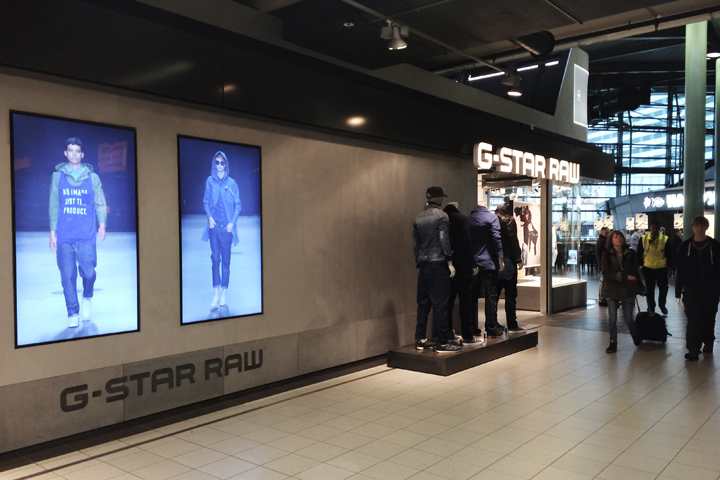 retail design blog g star raw store at schiphol airport by ivanka. Black Bedroom Furniture Sets. Home Design Ideas