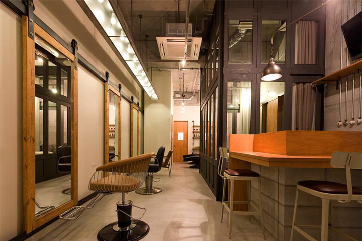 Ki se tsu hair salon esthetic salon by iks design for Miroir de nagoya