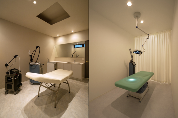 K s beauty dermatology clinic by asano geijyutsu fukuoka japan retail design blog for Dermatology clinic interior design