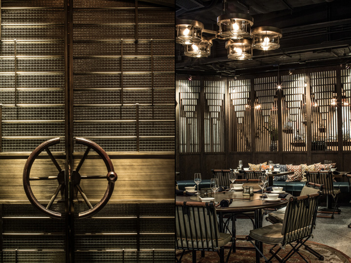 mott 32 restaurant by joyce wang hong kong beaded inset restaurant interior - Beaded Inset Restaurant Decoration