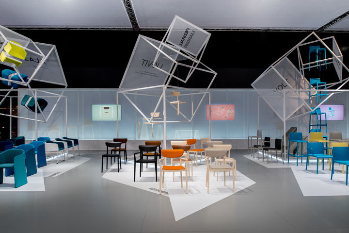 Pedrali stand at salone del mobile 2014 by migliore for Salone del mobile stand