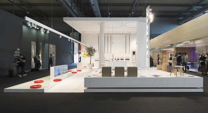 Thermomat booth at salon de mobile by archiplan studio for Salon milan design