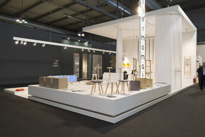 Expo Milan Stands : Thermomat booth at salon de mobile by archiplan studio