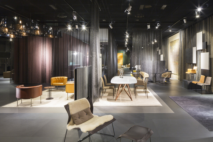 walter knoll stand at imm cologne by ippolito fleitz group cologne. Black Bedroom Furniture Sets. Home Design Ideas