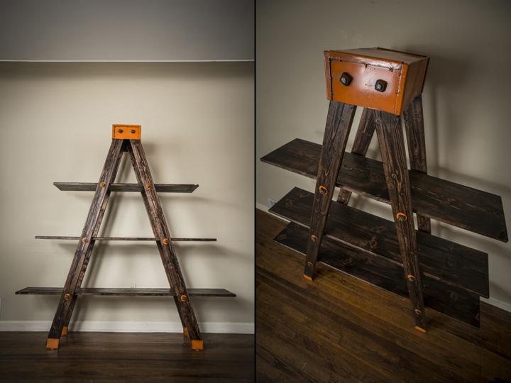 A Frame Ladder Shelf By Anton Maka Designs
