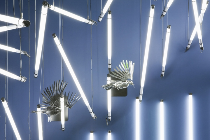 Breaking Wave Installation For John Lewis By Paul Nulty Lighting Design York