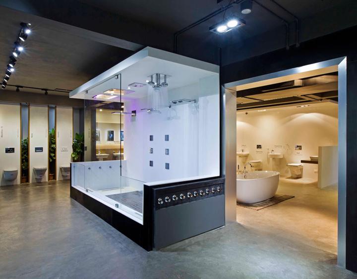 » Emporio showroom by NU.DE, Kannur – India Modern Sanitary Ware Showroom