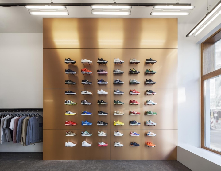 Novacane store by bastian braun berlin germany retail for Sneaker wall display
