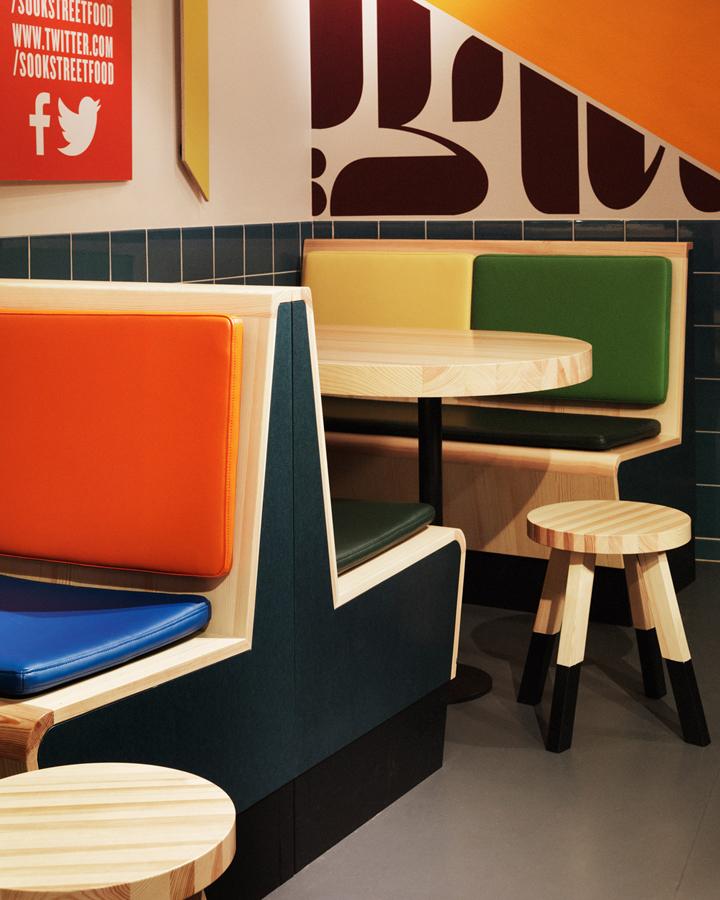 Sook fast food restaurant by koncept stockholm stockholm for Houweling interieur outlet