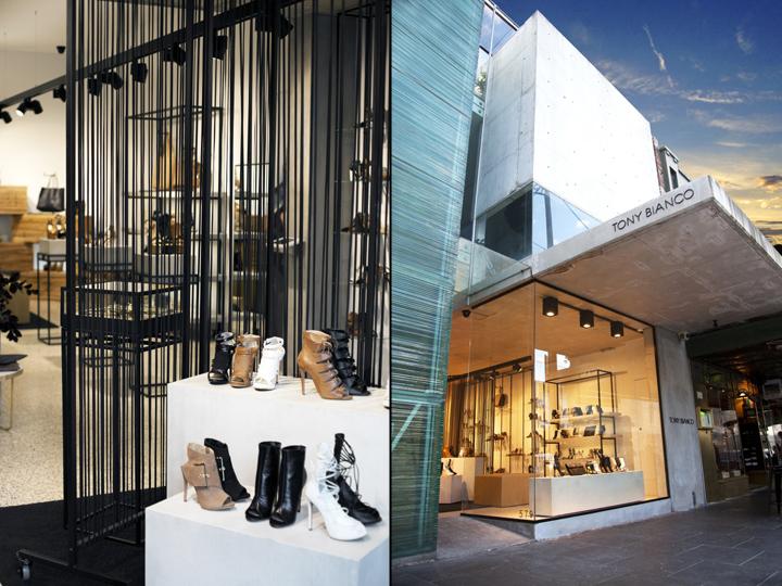 Tony bianco store by prospace design studios melbourne for Melbourne design studios