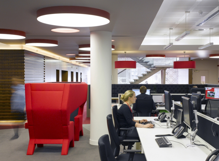 Virgin money hq office design by spacelab retail design blog for Office design edinburgh