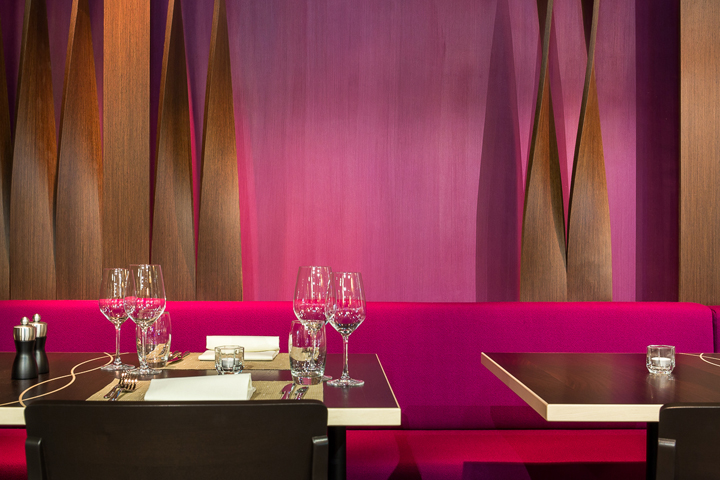 Aurora restaurant and bar by barmade interior design for Interior design zurich