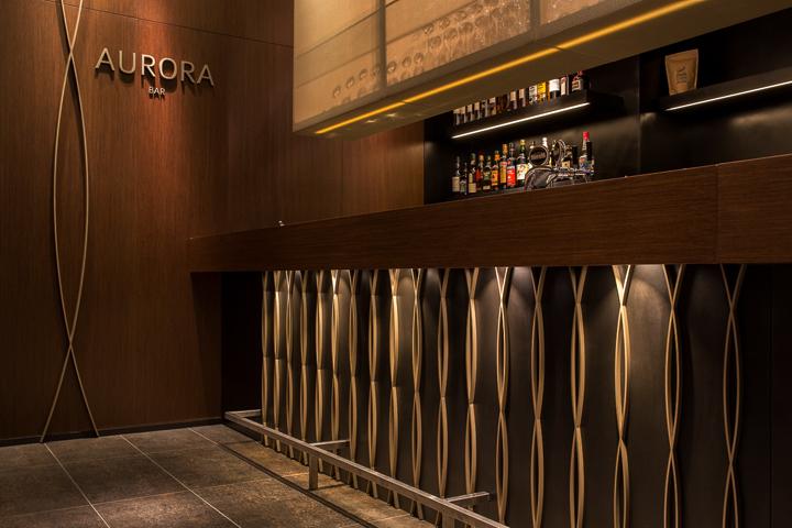 Aurora restaurant and bar by Barmade Interior Design, Zurich  Switzerland