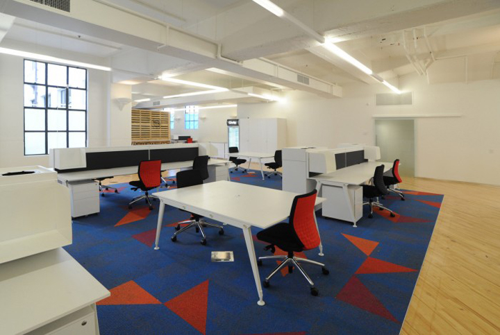Charlie s trading company office by spaceworks auckland for Office design auckland