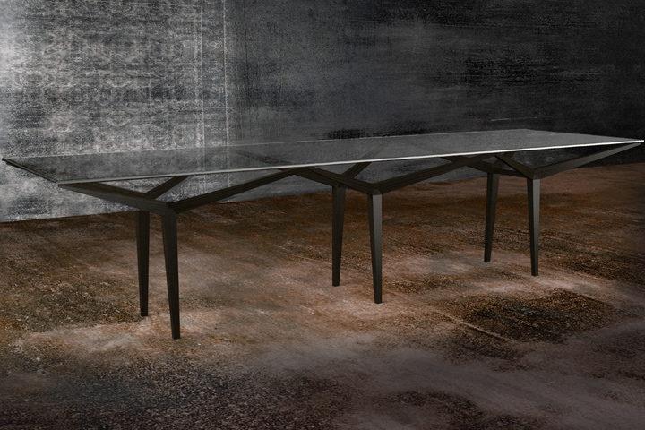 double frame table by iosa ghini associati for rossato arredamenti