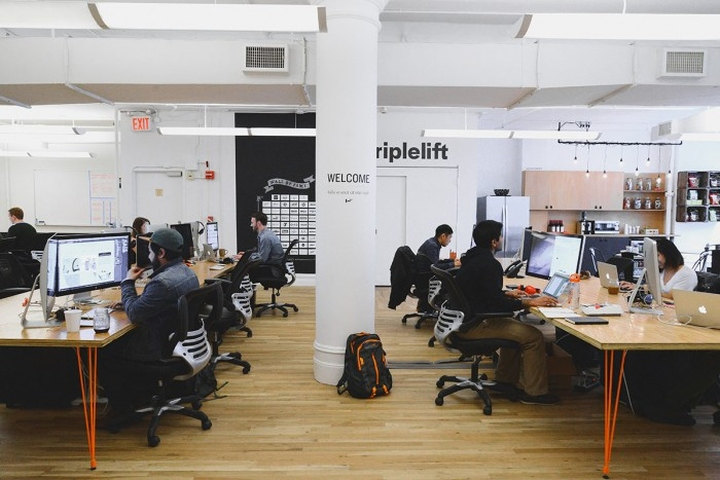 Triplelift office by tina apostolou new york city for Office design hashtags