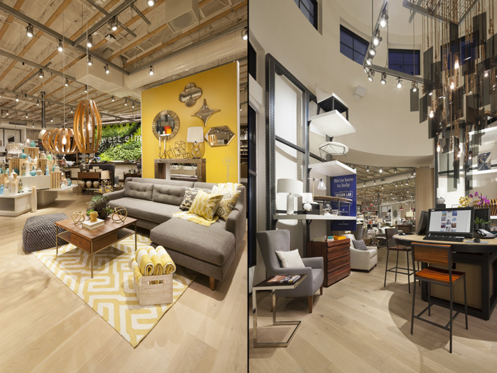 West elm home furnishings store by mbh architects for Home design furniture