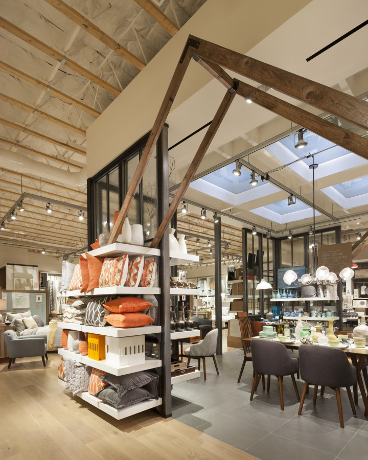 West elm home furnishings store by mbh architects alameda for Display home furniture