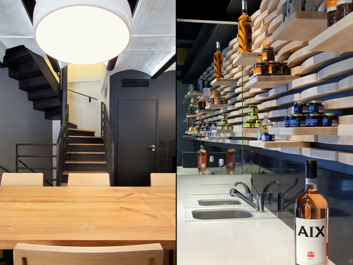 wine and cheese store by vincent coste architecte aix en. Black Bedroom Furniture Sets. Home Design Ideas