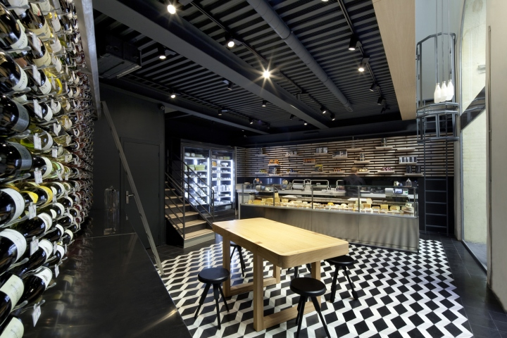Wine and cheese store by vincent coste architecte aix en provence france