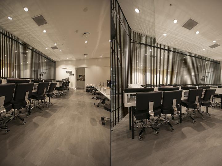 Akis spa by studio mkz sydney australia retail design for Sydney salon
