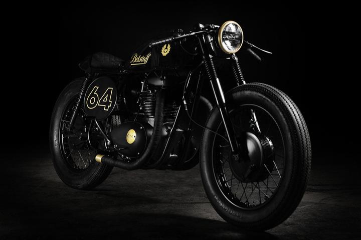 187 belstaff caf201 racer bsa a65 motorcycle by taras kravtchouk