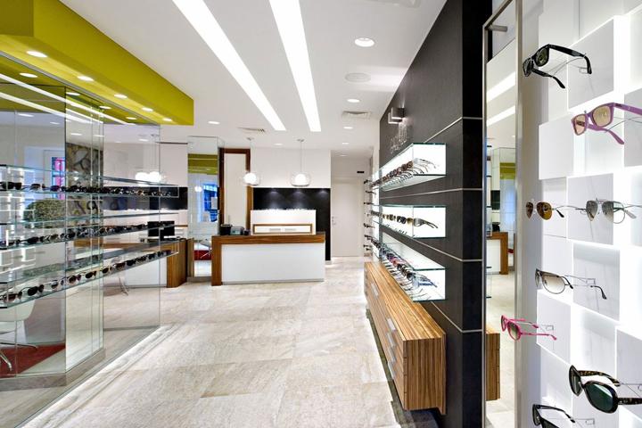 Ottica gallazzi by arketipo design milano italy for Store design milano