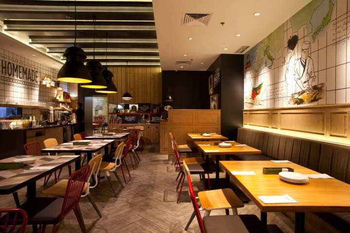 Popolomama japanese italian restaurant by metaphor for Italian interior design company names