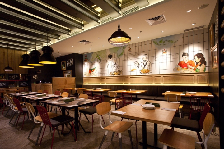 Popolomama japanese italian restaurant by metaphor for Interior architecture jakarta