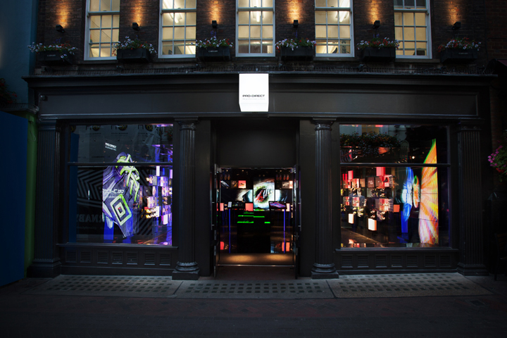 Pro direct store launch by green room retail london uk for Green room retail design