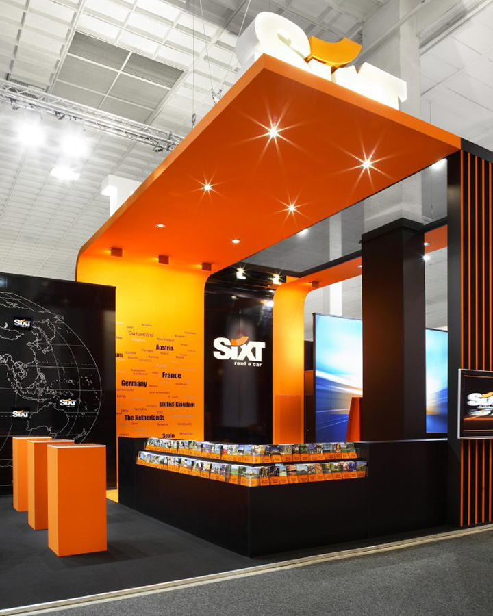 Exhibition Stand Design In Germany : Sixt trade show stand by plajer franz studio munich