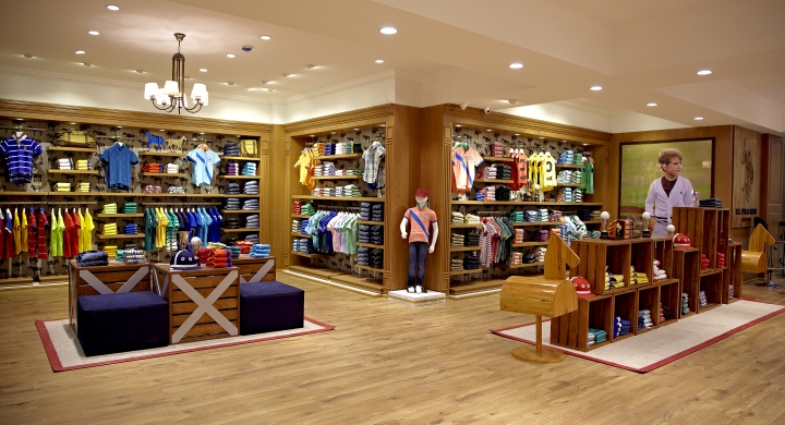 Us polo assn flagship store by restore solutions for Interior design online shopping india