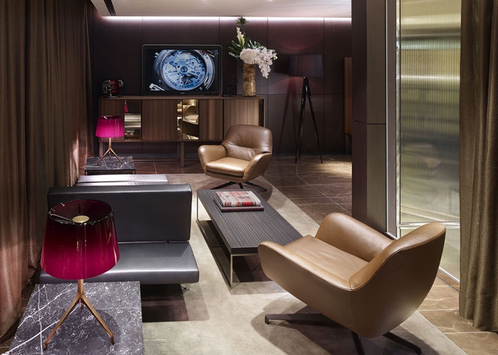 Watches of switzerland landmark flagship store by for Vip room interior design