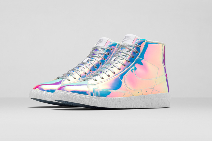 buy nike womens blazer mid iridescent paint