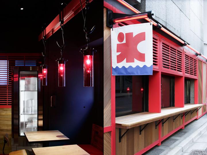 日本东京–Yelo Kaki-Gori 红色餐厅设计