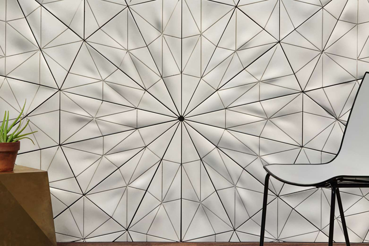Decorative Wall Tile Patterns : Aperiodix concrete wall tile system by oso industries
