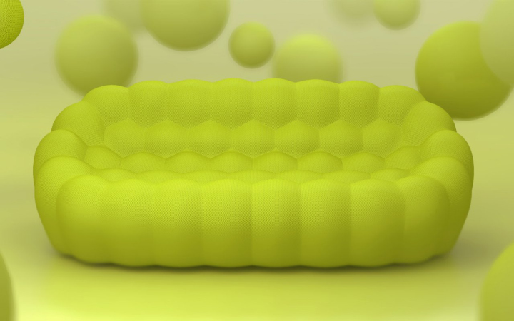 Sofá da bolha por Sacha Lakic Projeto 03 sofá BUBBLE por Sacha Lakic projeto
